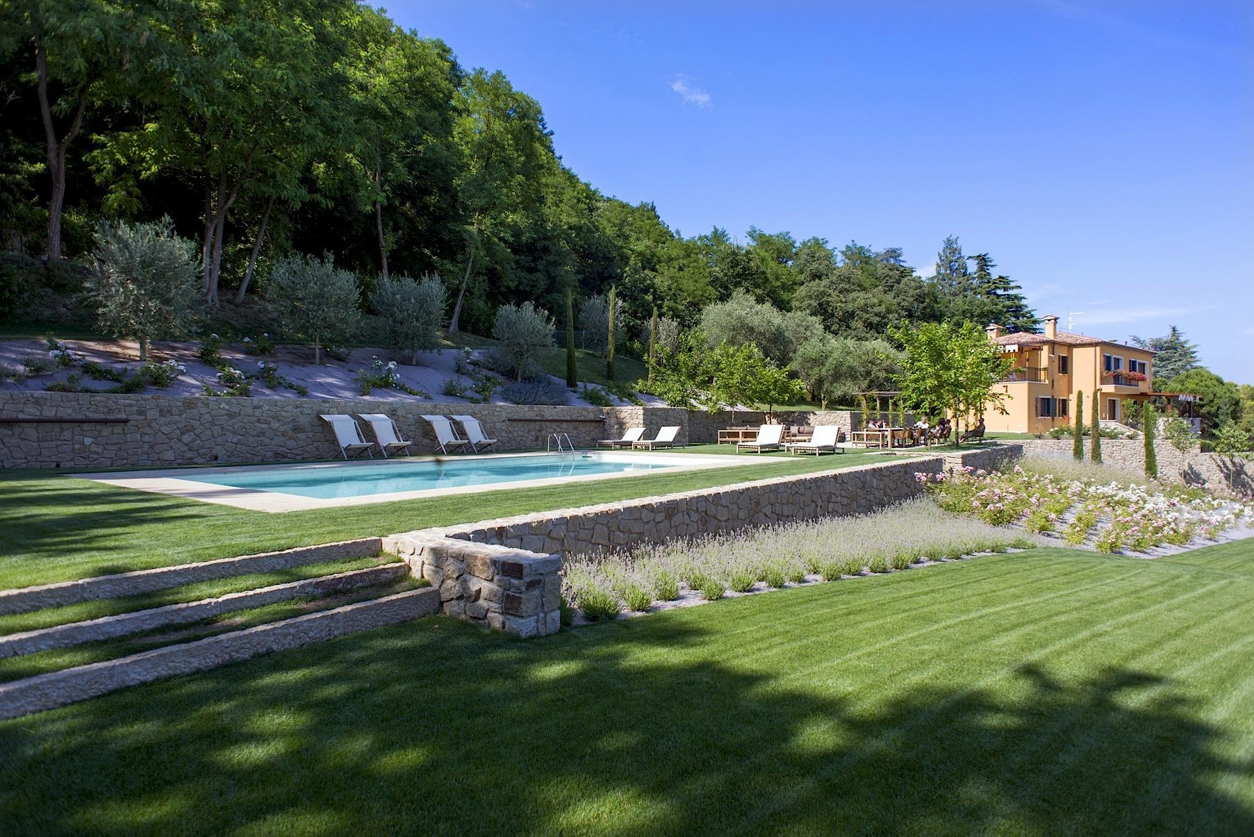 Villa delle Rose vista sul parco