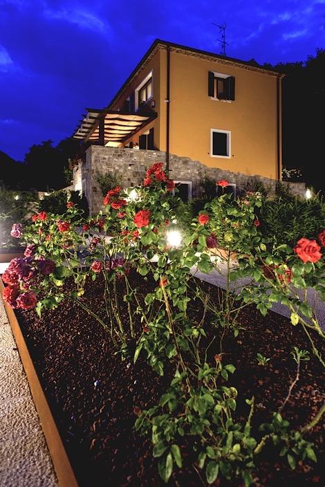 Villa delle Rose, il giardino all'italiana